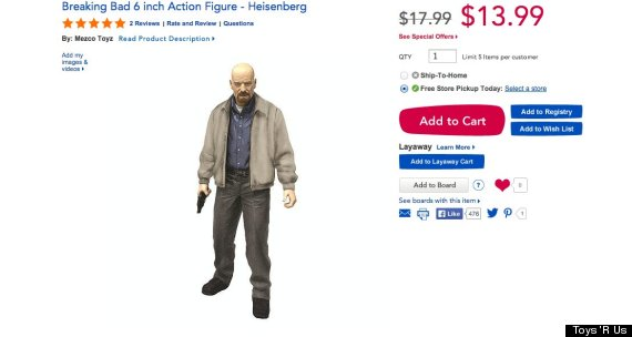 Toys R Us Pulls 'Breaking Bad' Dolls From Shelves Following Florida Mom's Petition