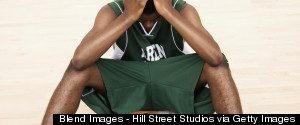 SAD BLACK BASKETBALL PLAYER