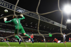 West Brom score the opening goal | Pic: Getty