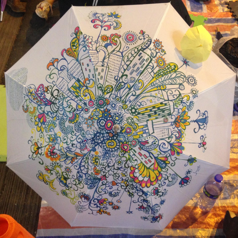 pintura guarda-chuva