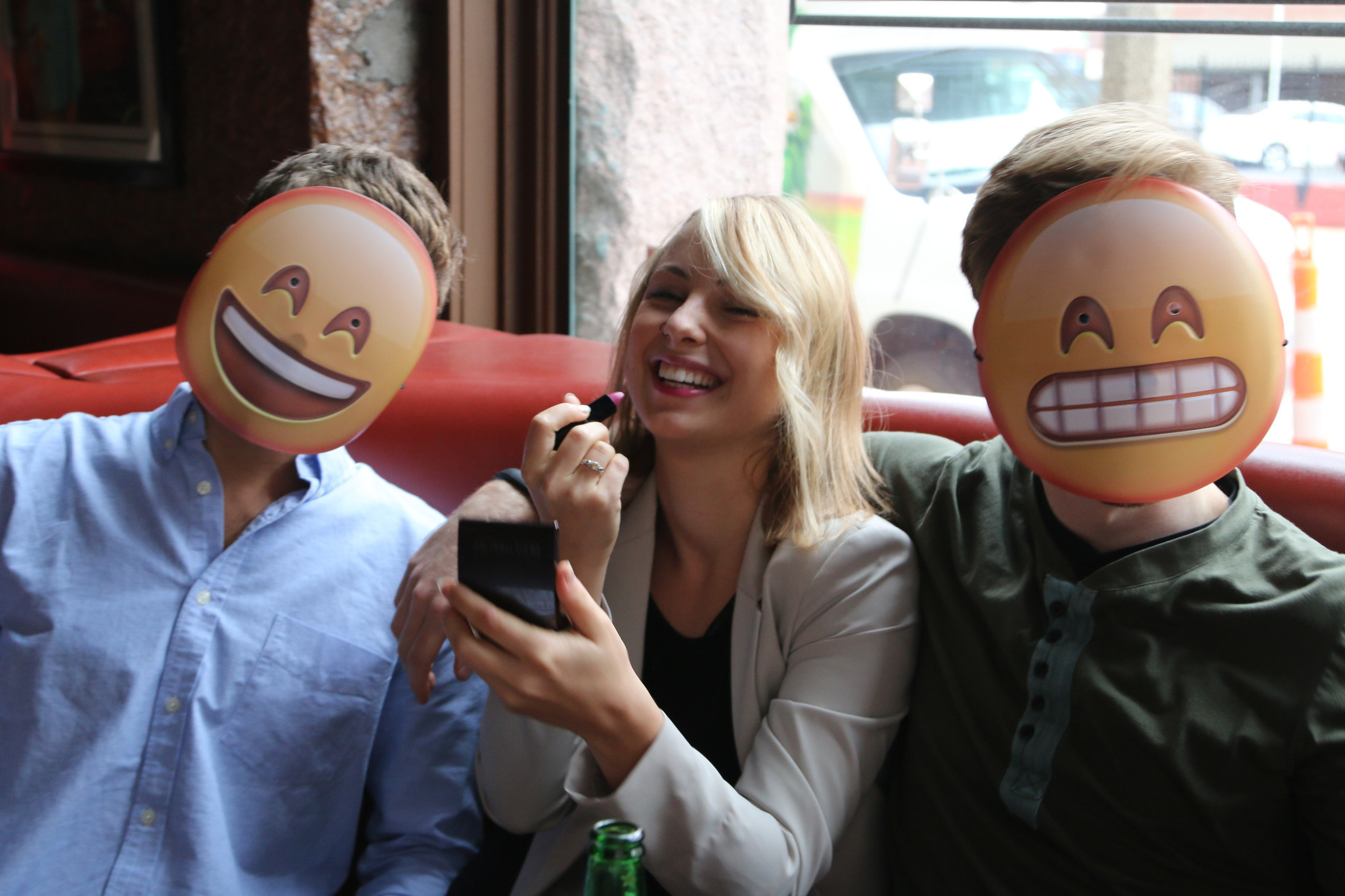 weird news: these emoji masks are the best halloween costumes $5 can buy