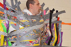 Taped teacher | Pic: AP