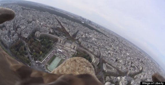 fly over paris