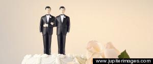 TWO MEN WEDDING CAKE