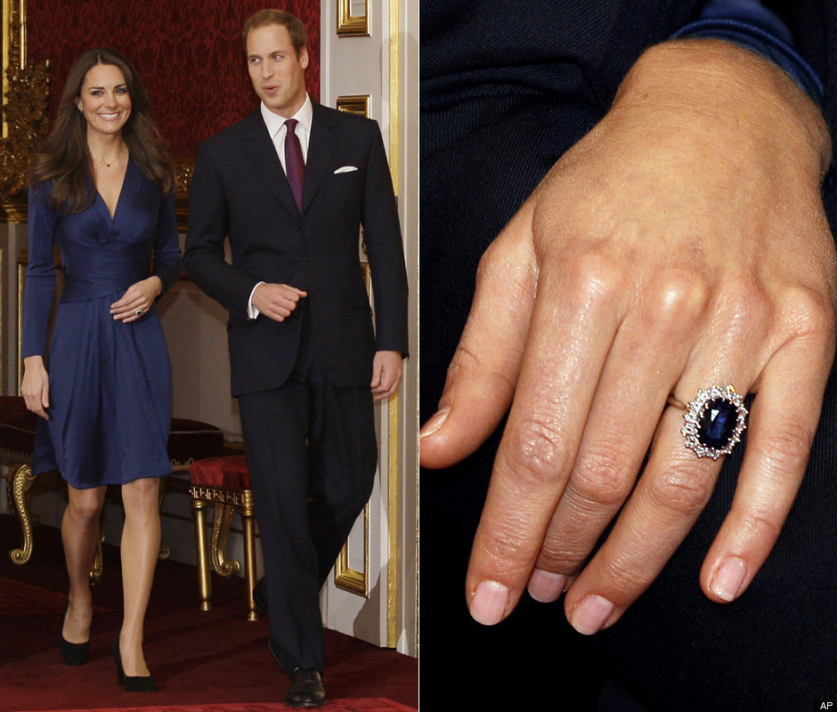 Kate Middleton Engagement Ring Diana S Former Debuted By Future Princess Photos