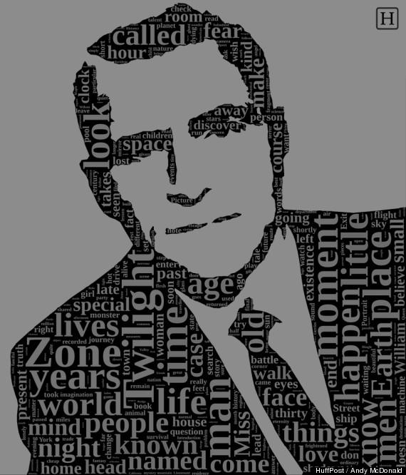 twilight zone rod serling word cloud