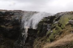 Waterfall flowing upwards | Pic: YouTube