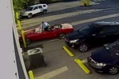 Man jumps into car | Pic: YouTube