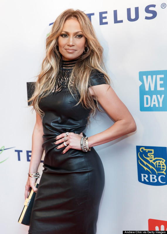 Jennifer Lopez Rocks A Leather Dress For We Day Event | Pix Aggregator -