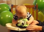 Baby Shamelessly Face-Plants Into His 1st Birthday Cake