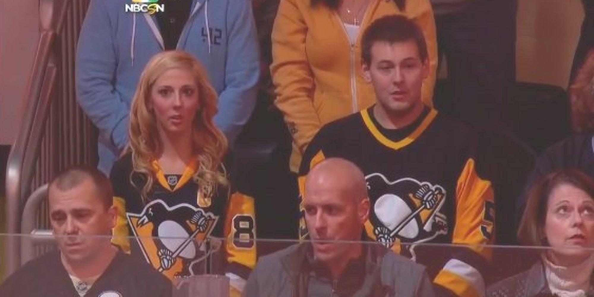 Girl Hockey Fans us Hockey Fans Sing 'o