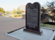 Man detained after smashing car into 10 Commandments monument