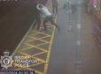Shocking Footage Of Blind Man Thrown Onto Train Tracks