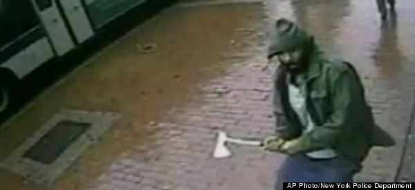 CCTV Captures Axe-Wielding Man Attacking Police