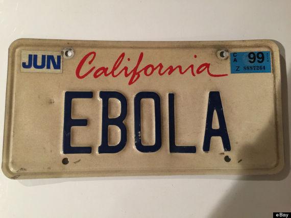ebola license plate