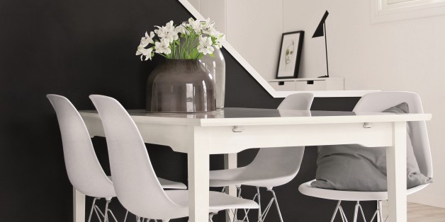 The one shade of black paint that always looks good video for Black n white dining rooms