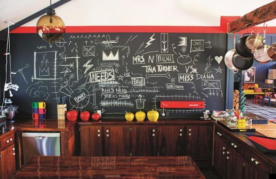 black chalkboard pain in kitchen