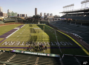 Wrigley Field Football Game