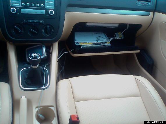 car glove box