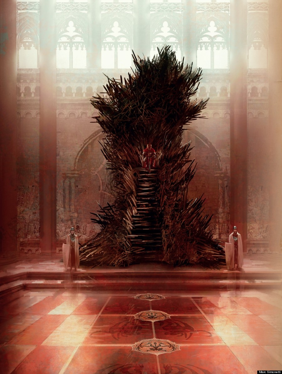 how to draw the iron throne