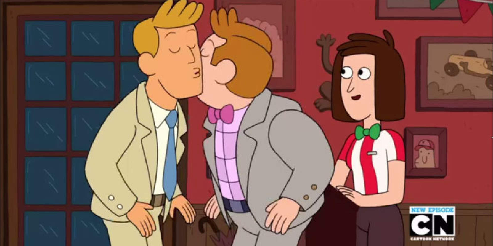 from Avery gay cartoon kissing