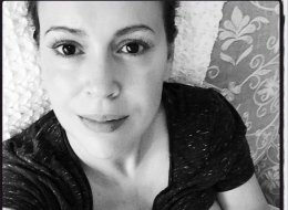 Alyssa Milano Shares Blissful Breastfeeding Photo