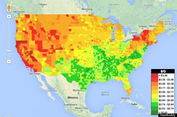 Gas Prices Us Map.Gas Price Us Gas Price Map