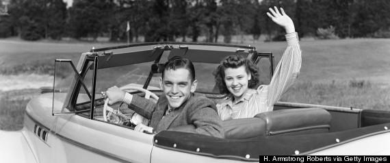 smiling teen couple