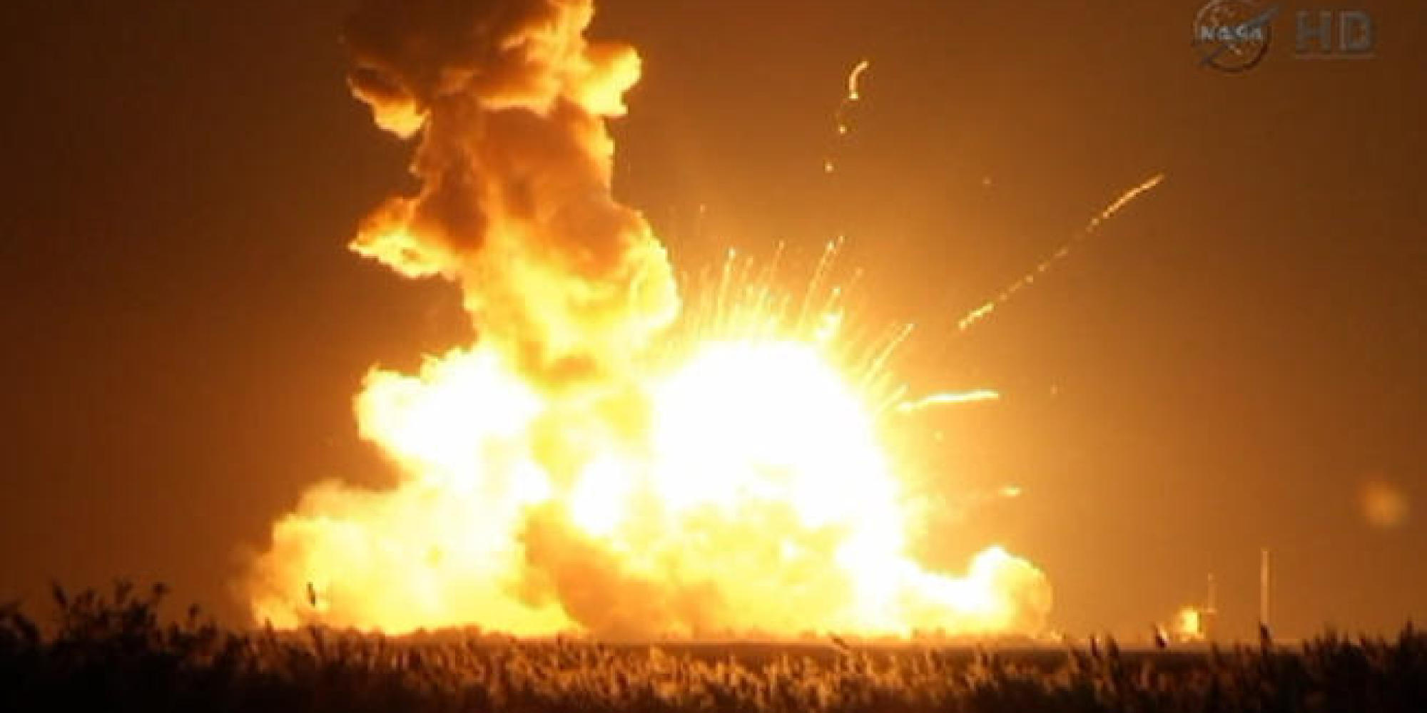 Antares Rocket Explodes Shortly After Lift-Off From ...
