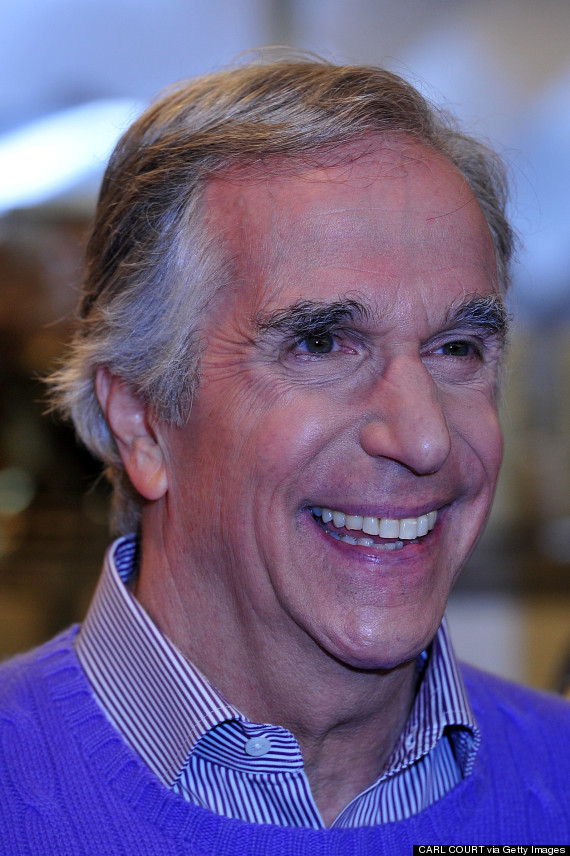 henry winkler as the fonz in happy days