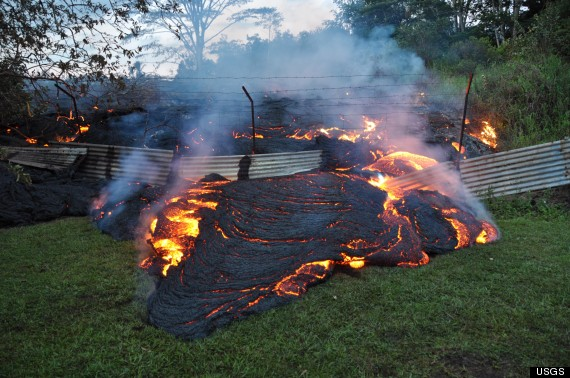 After Burning Through Forest, Pastures And A Road, The Lava Overtook Parts  Of Pahoa Cemetery, A Decidedly Eery Sight So Close To Halloween.