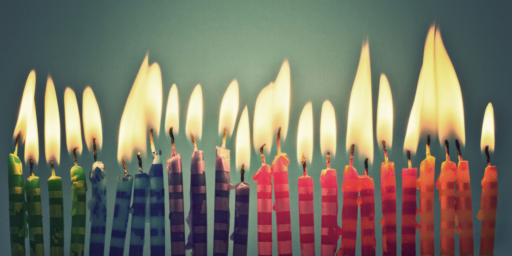 Green Birthday Cake Candles