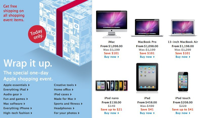 when does apple have sales
