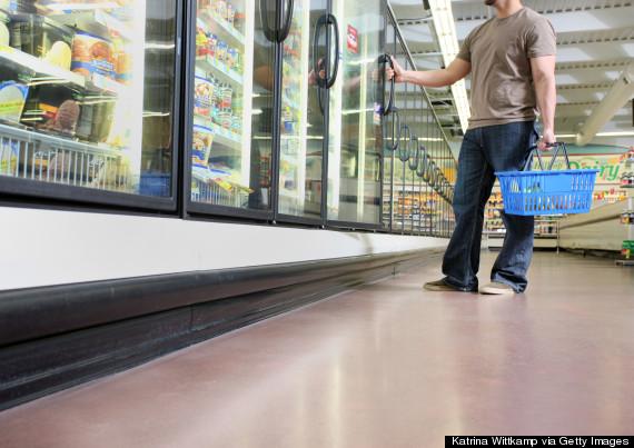frozen foods grocery store