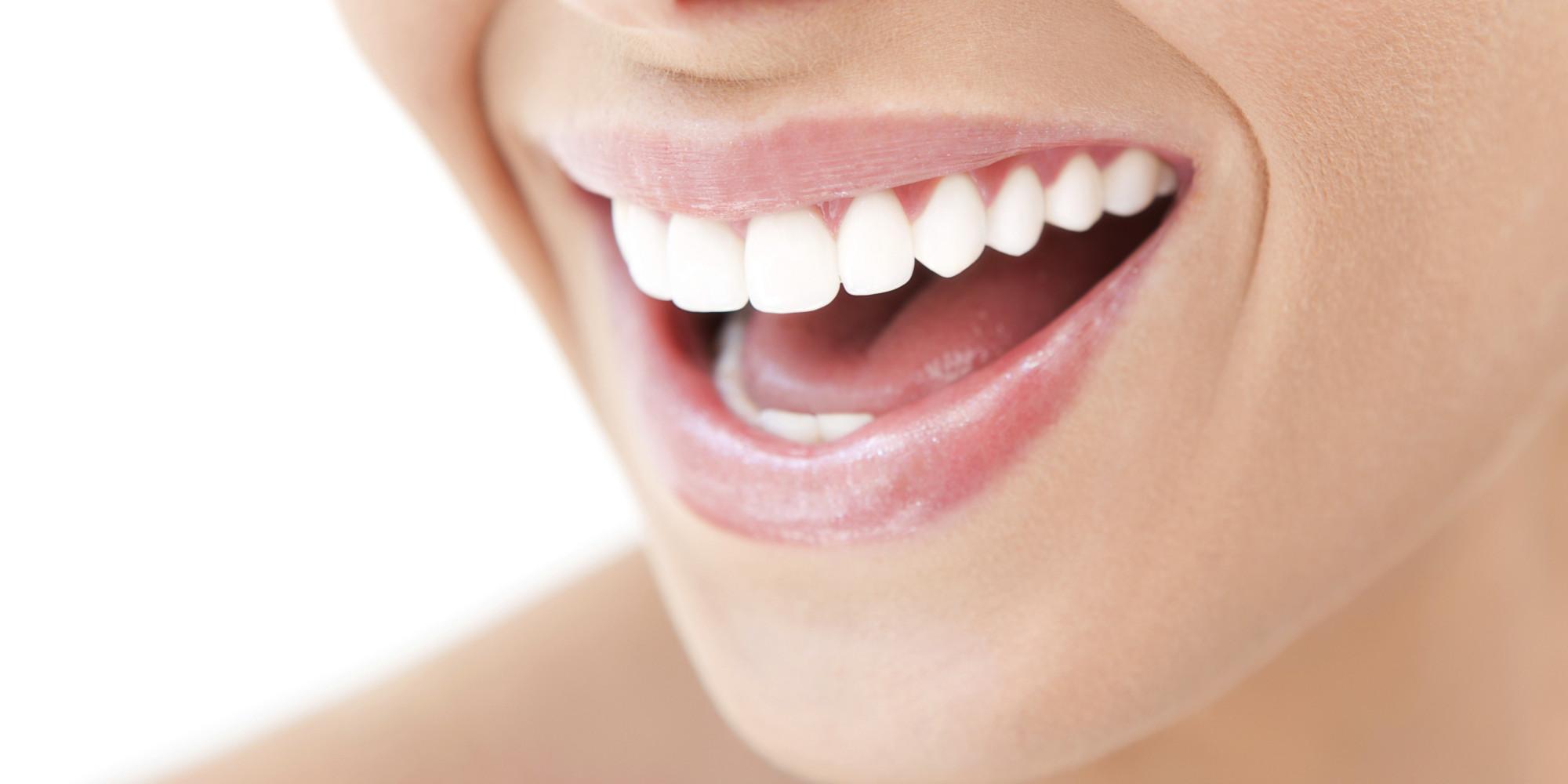 O woman open mouth smile facebook