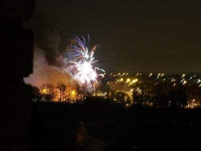The fireworks factory fire in Stafford