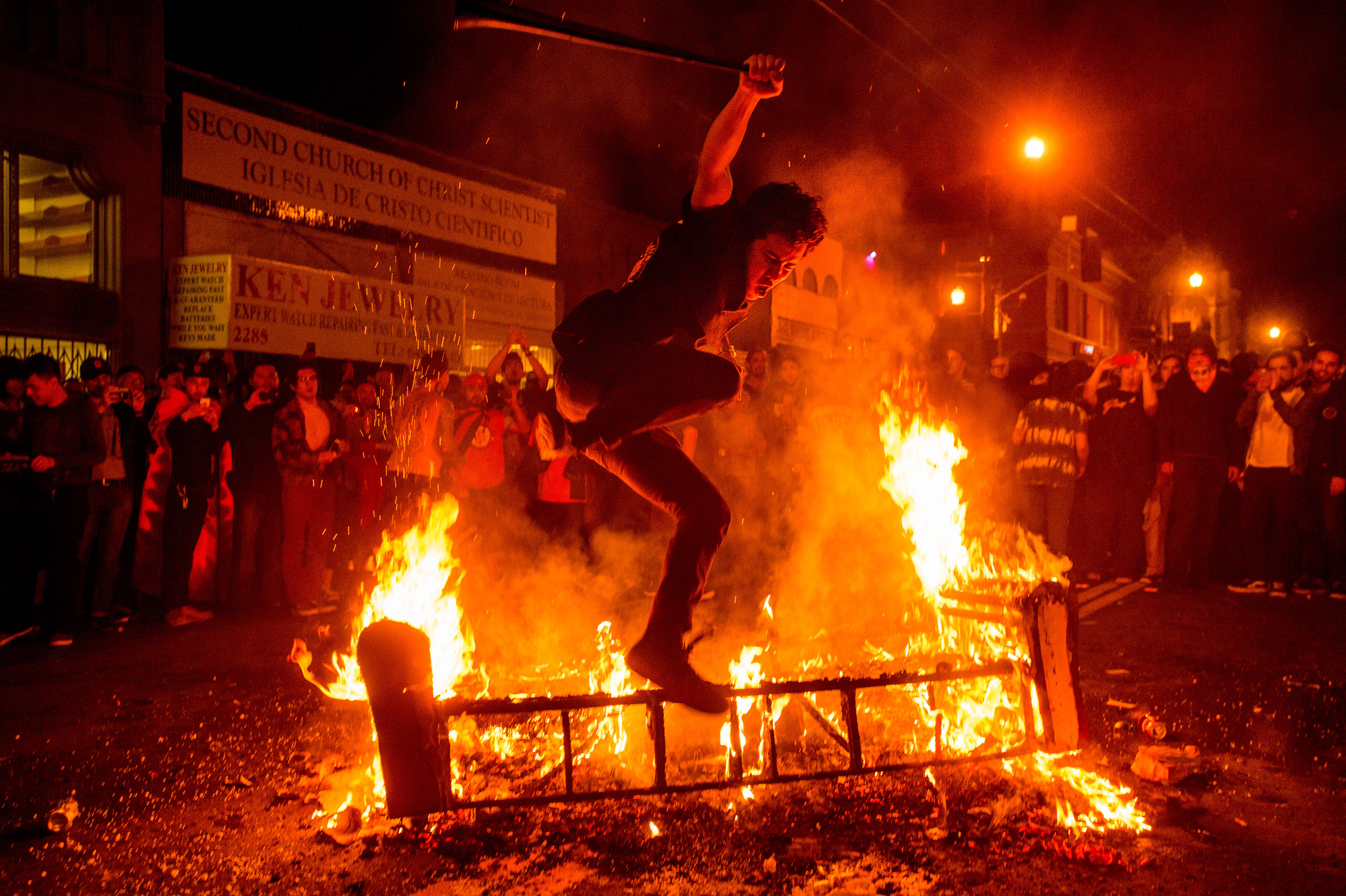 Giants Fans Celebrate World Series Victory By Destroying San