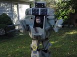 Dad And Baby Conquer Halloween With This Homemade MechWarrior Costume