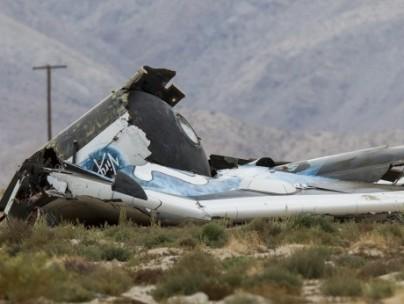 Debris for Virgin spaceship crash