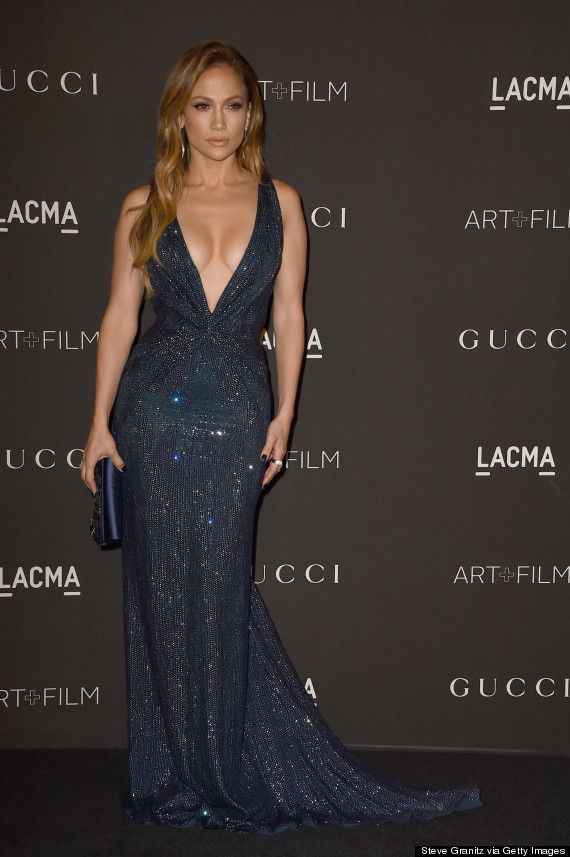 Jennifer Lopez Steals The Spotlight In A Low-Cut Gown At The LACMA ...