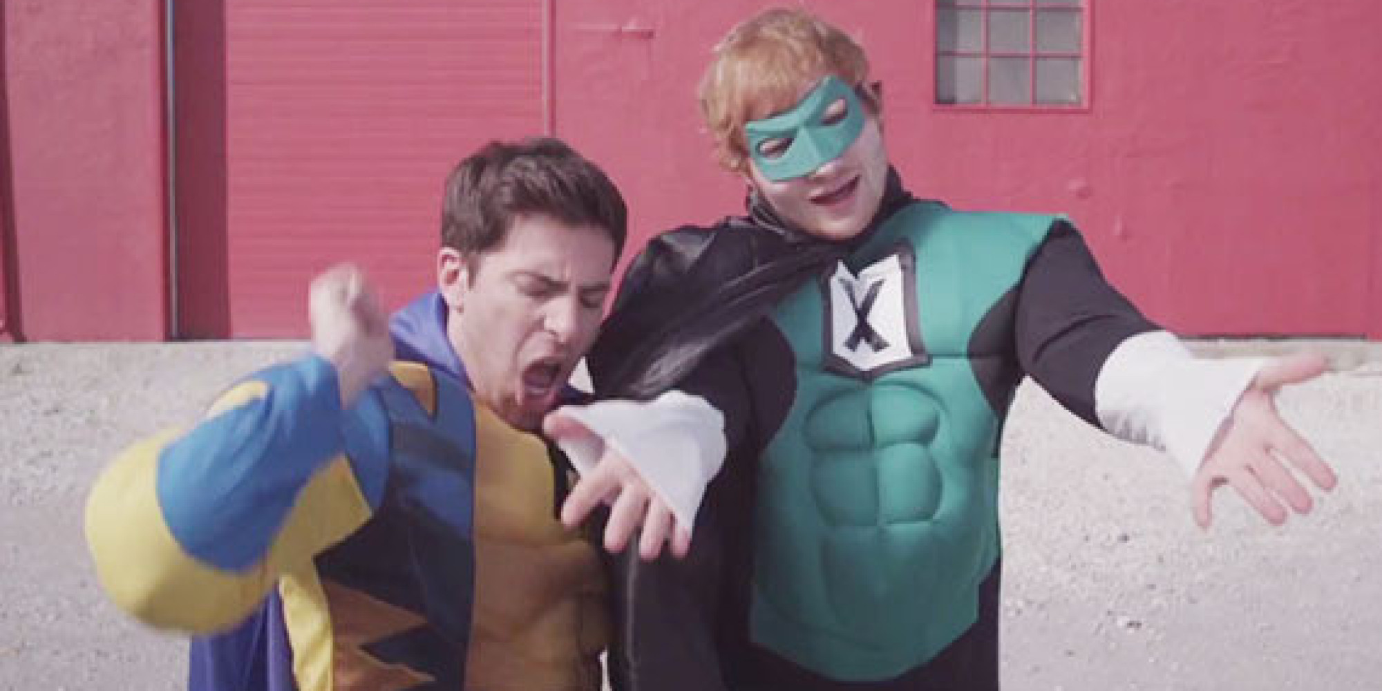 Hoodie Allen And Ed Sheeran Team Up As Superheroes In Silly New Music Video