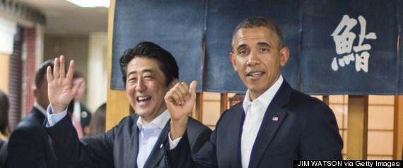 obama shinzo sushi