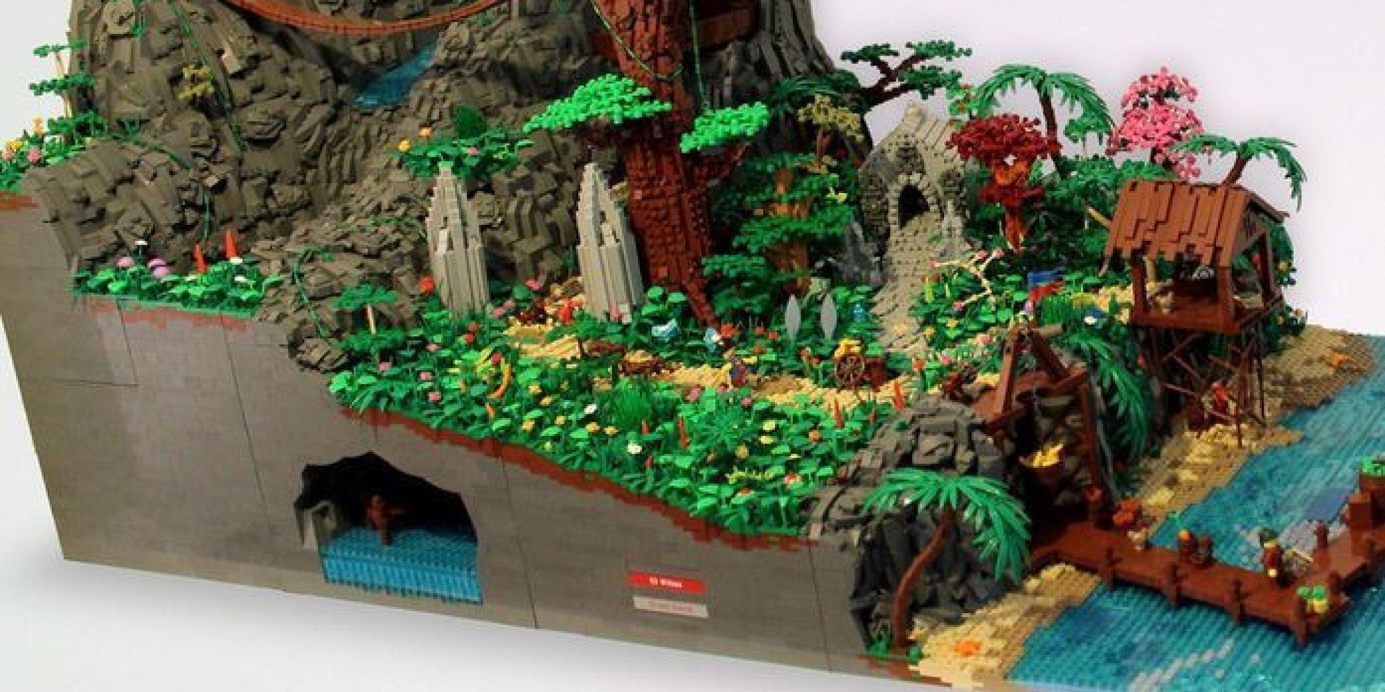 Vid 201 O Une Immense 238 Le De Pirates En Lego Avec Sa Cascade