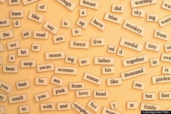 refrigerator magnet poem