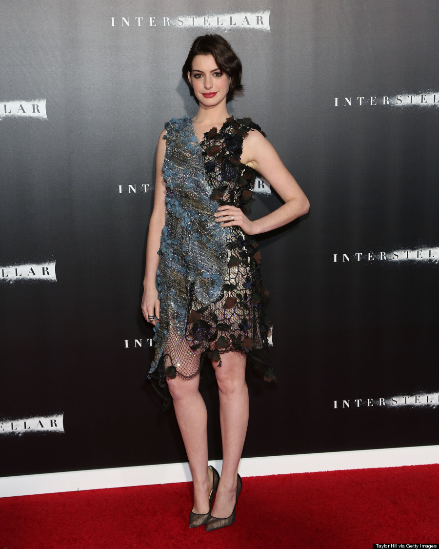 Anne Hathaway Gown: Anne Hathaway's 'Insterstellar' Premiere Dress Is
