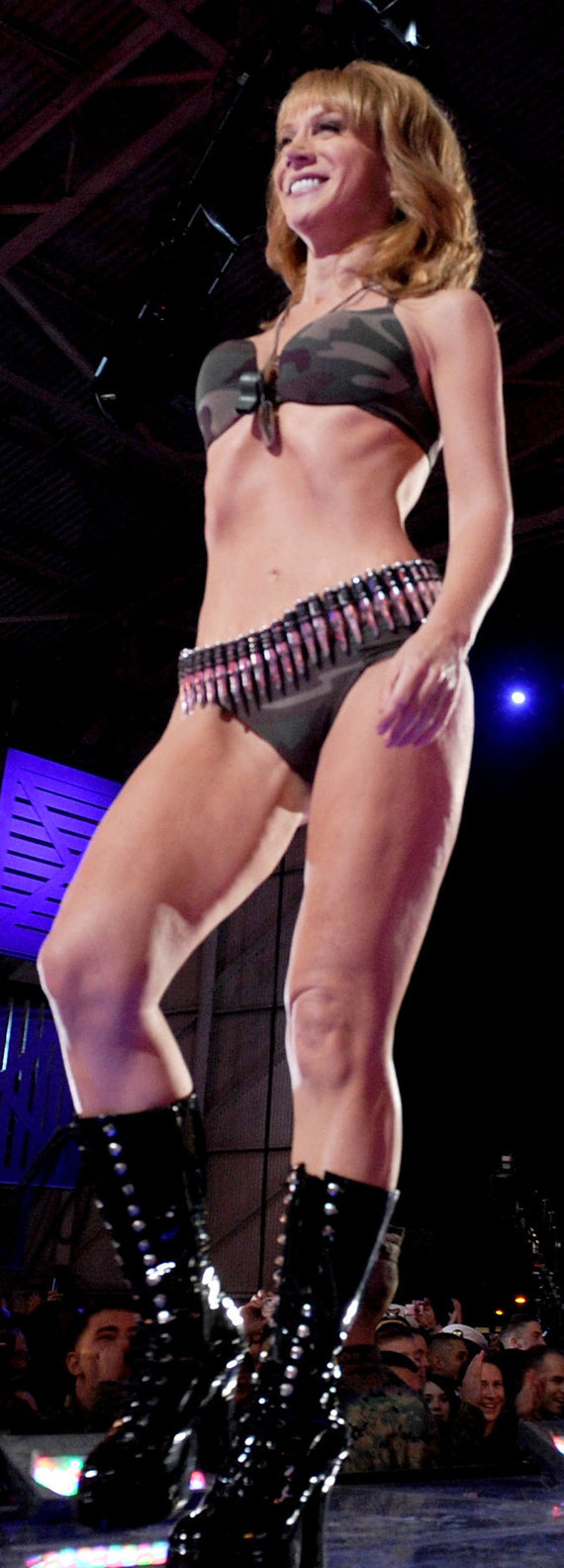 Kathy Griffin wowed the troops in a camo bikini at the VH1 Divas Salute the ...