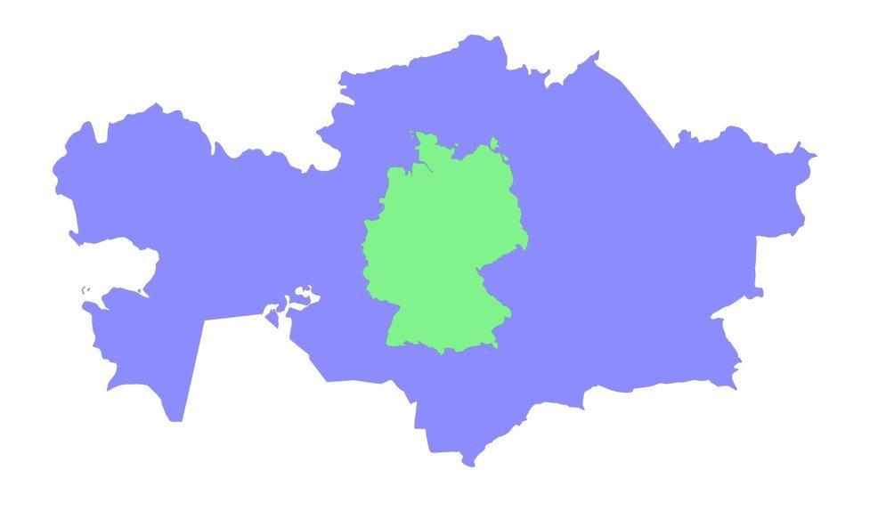 so klein ist deutschland im vergleich zu anderen ländern