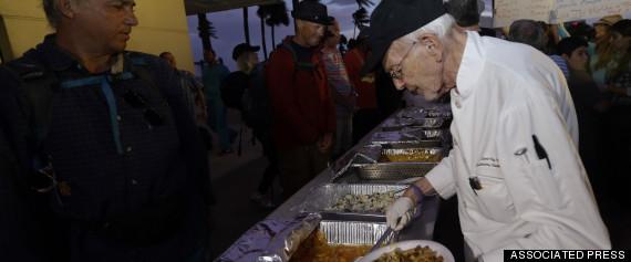 feeding homeless arrested