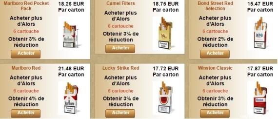 Tabac en ligne pas cher