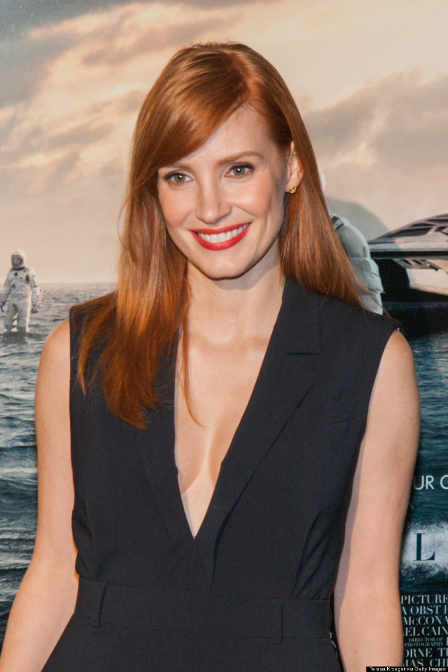 Jessica Chastain's 'Interstellar' Jumpsuit Is Really Hot Jessica Chastain